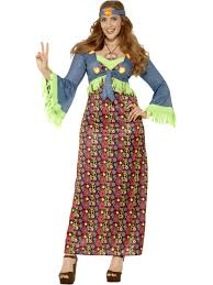 curves hippie costume ladies 1960s hippy fancy dress 70s