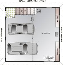 Workshop Garage Plans Apartment Over Garage Designs Loft Floor Plan With