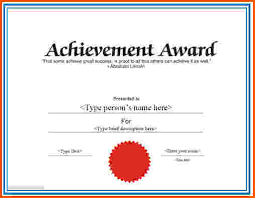 8 certificate of achievement template word survey template words