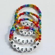 Personalized Kids Jewelry Rainbow Name Bracelet Personalized Children U0027s By Stargazinglily