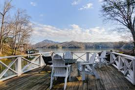 large lakefront vacation rental with private dock on lake lure