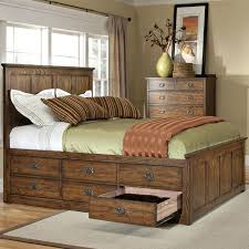 king size bed frame with drawers underneath for of throughout