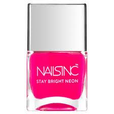 nails inc claridge gardens nail polish neon pink 14ml reviews