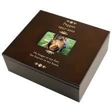 personalized wooden keepsake box personalized pet paw print memory box engraved pet memorial and