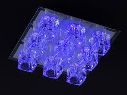 deckenlampe mit fernbedienung deckenleuchte farbwechsel led halogen lampe glas leuchte