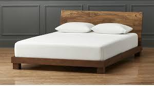 Bed Frame Furniture Dondra Teak Bed Cb2