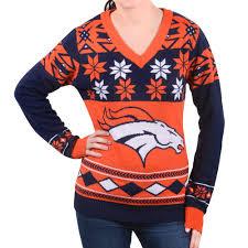 denver broncos big logo s v neck nfl sweater