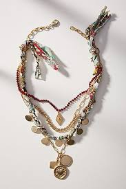 beaded necklace with pendant images Women 39 s necklaces anthropologie