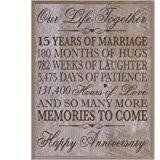 15 year anniversary gift for husband 15th wedding anniversary gift for 15th