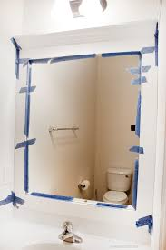 Frame For Bathroom Mirror by How To Frame A Bathroom Mirror How To Nest For Less