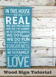 family wood in this house we do family wood sign tutorial