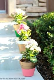 flower pot ideas for winter outdoor steps with planters and pots