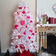 pink flocked christmas tree christmas lights decoration