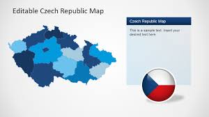 Map States Czech Republic Powerpoint Map Slidemodel
