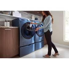 Samsung Blue Washer And Dryer Pedestal Samsung Laundry Pedestal With Storage Drawer In Azure We357a0z