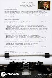 cfo sample resume don draper s resume pongo blog don draper