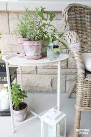 White Wash Table And Chairs Diy White Washed Terra Cotta Pots Setting For Four
