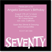 informal invitation birthday party 70th birthday invitations birthday party invitations