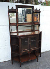 Antique Etagere Mahogany Original Antique Curio Cabinets Ebay
