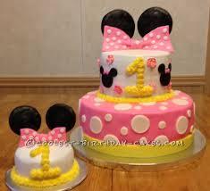 minnie mouse 1st birthday cake coolest minnie mouse 1st birthday cake tiered cakes smash cakes