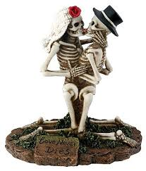 skull cake topper skeleton and groom cake toppers wedding collectibles