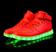 where do they sell light up shoes fashion popular 2017 light up shoes high top gold silver multi mode