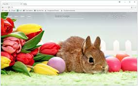 theme google chrome rabbit easter wallpapers easter egg new tab themes free addons