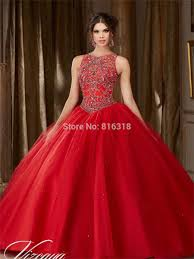 red quinceanera dresses with open back rhinestone beaded ball gown