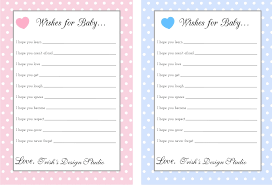 baby shower gift wording ideas polka dot wishes for baby pink