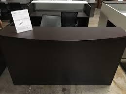 Reception Desk Shell Mj Espresso Reception Desk Shell Miramar Office