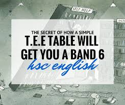 how a simple tee table will get you a band 6 for hsc english