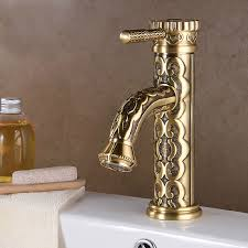 Upscale Bathroom Fixtures Polished Brass Bathroom Faucets Wall Mount Lavatory Faucet Two
