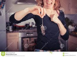 souris dans la cuisine femme avec la souris morte dans la cuisine image stock image du