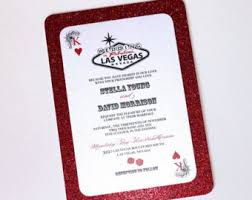 vegas wedding invitations las vegas wedding invitation casino invitation card