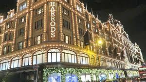 harrods christmas shop windows lights london luxury shopping youtube