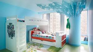 Modern Blue Bedrooms - modern simple design of the blue wall decorations girls room caan