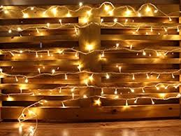 Outdoor Christmas Decorations Battery Operated Lights by Amazon Com 25ft Warm White 100 Leds Battery Operated Outdoor And