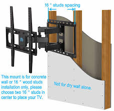 Tv Wall Mount Bracket Swivel Tv Wall Mount Bracket For Most 26 55 Inch Led Lcd Oled And