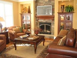 modern italian living room furniture stained wooden wall cream