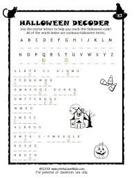 halloween code breaker cryptoquiz brain teaser printables for