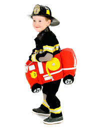 police halloween costume kids toddler boys deluxe plush ride in firetruck costume police