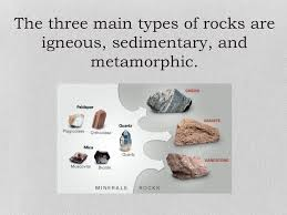 Types Of Rocks Chapter 6 Lesson 1 Minerals And Rocks Ppt Download
