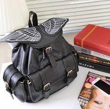 Massachusetts Travel Handbags images Stachel purse bag bookbags women angel wings backpack travel bag jpg