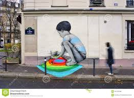 Paris Wall Murals Wall Mural Painting By Famous French Street Artist Seth