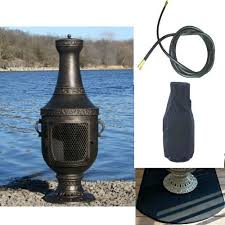 Outdoor Metal Fireplaces - top 23 best gas chiminea outdoor fireplaces