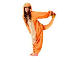 charmander themed costume pajamas onesies for adults