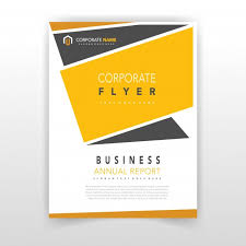 design flyer yellow coporate flyer design vector free