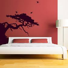 tree forest wall stickers large forest wall decor asian tree wall sticker