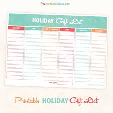 gift shopping list printable gift and shopping list free printables online