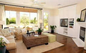 living room cute cube rattan coffee table and modern wing sofas